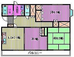 埼玉県さいたま市桜区町谷4丁目の賃貸マンションの間取り
