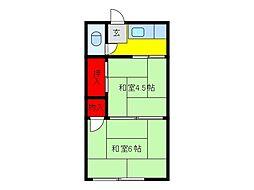 三浩荘[2階]の間取り