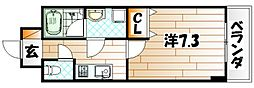 U-Basic reef 三萩野[2階]の間取り