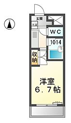 愛知県稲沢市国府宮2丁目の賃貸マンションの間取り
