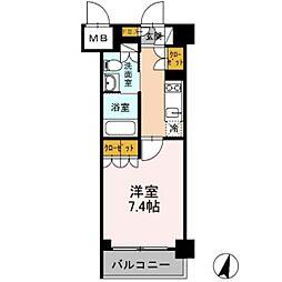 カスタリア武蔵小杉[1階]の間取り