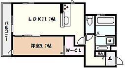 兵庫県神戸市東灘区森南町1丁目の賃貸アパートの間取り