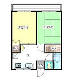 ホワイトホース[2階]の間取り