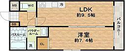 大阪府大阪市天王寺区玉造本町の賃貸マンションの間取り