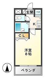 エルスタンザ鶴舞公園[8階]の間取り