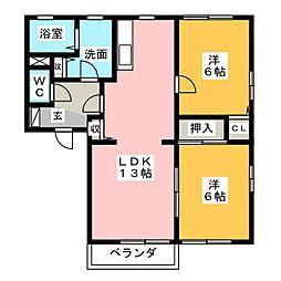 アミューズメント銀鈴 C棟[2階]の間取り
