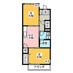 Surplus Two Ichikawa[2階]の間取り