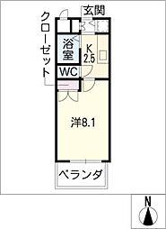 リエス伏見[4階]の間取り