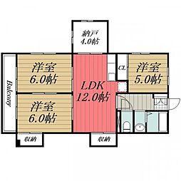 メゾンプラム I[3階]の間取り