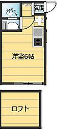 アーヴェル桜ケ丘[202号室]の間取り