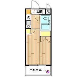 モナークマンション海老名壱番館[104号室]の間取り
