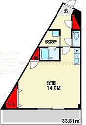 シンフォニー大野城[3階]の間取り