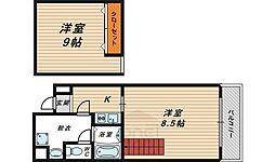 サンフィールド大阪城北[10階]の間取り
