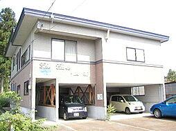 秋田県大仙市大曲日の出町1丁目の賃貸アパートの外観