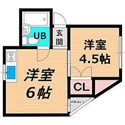 Osaka Metro谷町線 千林大宮駅 徒歩13分の賃貸マンション 3階1DKの間取り