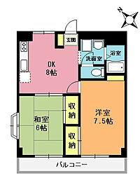 大塚第1ビル[2階]の間取り