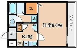 兵庫県神戸市兵庫区松本通2丁目の賃貸マンションの間取り