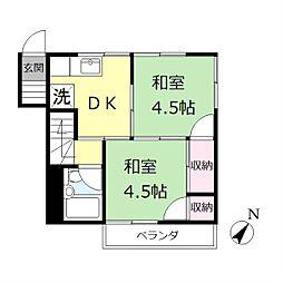 富士ショッピング[2F号室]の間取り