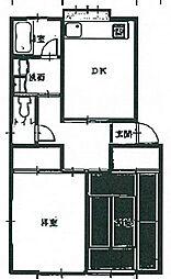 青木ハウス[1階]の間取り
