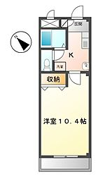 愛知県名古屋市緑区大清水5丁目の賃貸マンションの間取り