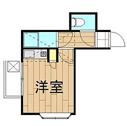 神奈川県川崎市中原区木月伊勢町の賃貸アパートの間取り