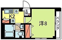 東京都武蔵野市境3丁目の賃貸マンションの間取り