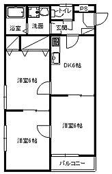 オリーブハウス2[2階]の間取り