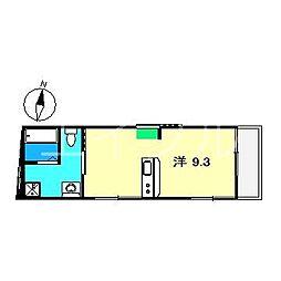 高知県高知市新屋敷2丁目の賃貸マンションの間取り