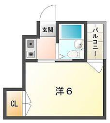 アルブル守口[3階]の間取り