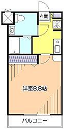 東京都小平市小川東町2丁目の賃貸マンションの間取り