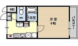 ホーユウコンフォルト西陣[410号室号室]の間取り