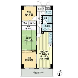 ライオンズマンション船橋飯山満台一番館[7階]の間取り