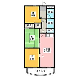 ファミーリエ大成[1階]の間取り