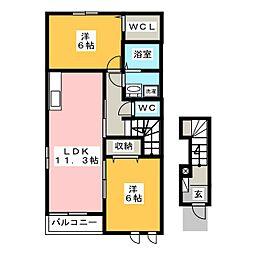 ピュアメゾン[2階]の間取り