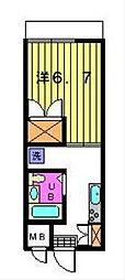 第三カトレアハイツ[3-C号室]の間取り