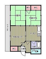 尾崎マンション[102号室]の間取り