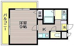 東京都三鷹市中原3の賃貸マンションの間取り