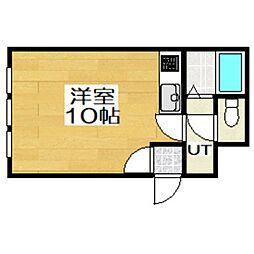 北海道室蘭市本町2丁目の賃貸アパートの間取り