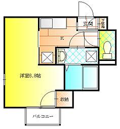 オーシャン青山[3階]の間取り