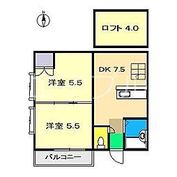 エトワール山本(北本町)[2階]の間取り