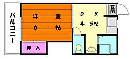 松香台コーポ[2階]の間取り