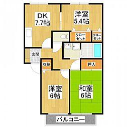 ハイマート金川IIA[2階]の間取り