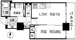 ブランズタワー・ウェリス心斎橋SOUTH[10階]の間取り
