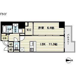 プレサンスNEO心斎橋[10階]の間取り