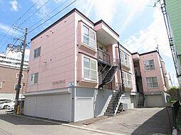 北海道札幌市厚別区厚別中央三条2丁目の賃貸アパートの外観