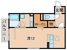 和歌山県和歌山市西小二里1丁目の賃貸アパートの間取り
