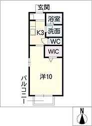 リベラシオンII[2階]の間取り