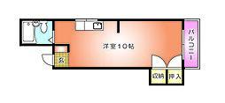 コーポ山田[401号室]の間取り