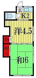 第2清和荘[1階]の間取り