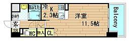 大拓ハイツ22[9階]の間取り